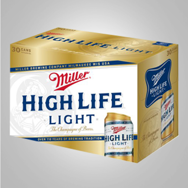 miller high life light 30pk cans famous liquors. Black Bedroom Furniture Sets. Home Design Ideas